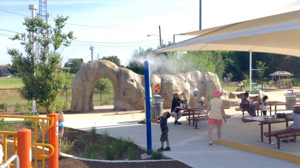 misting poles park