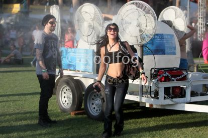 Koolfog Coachella misting fans