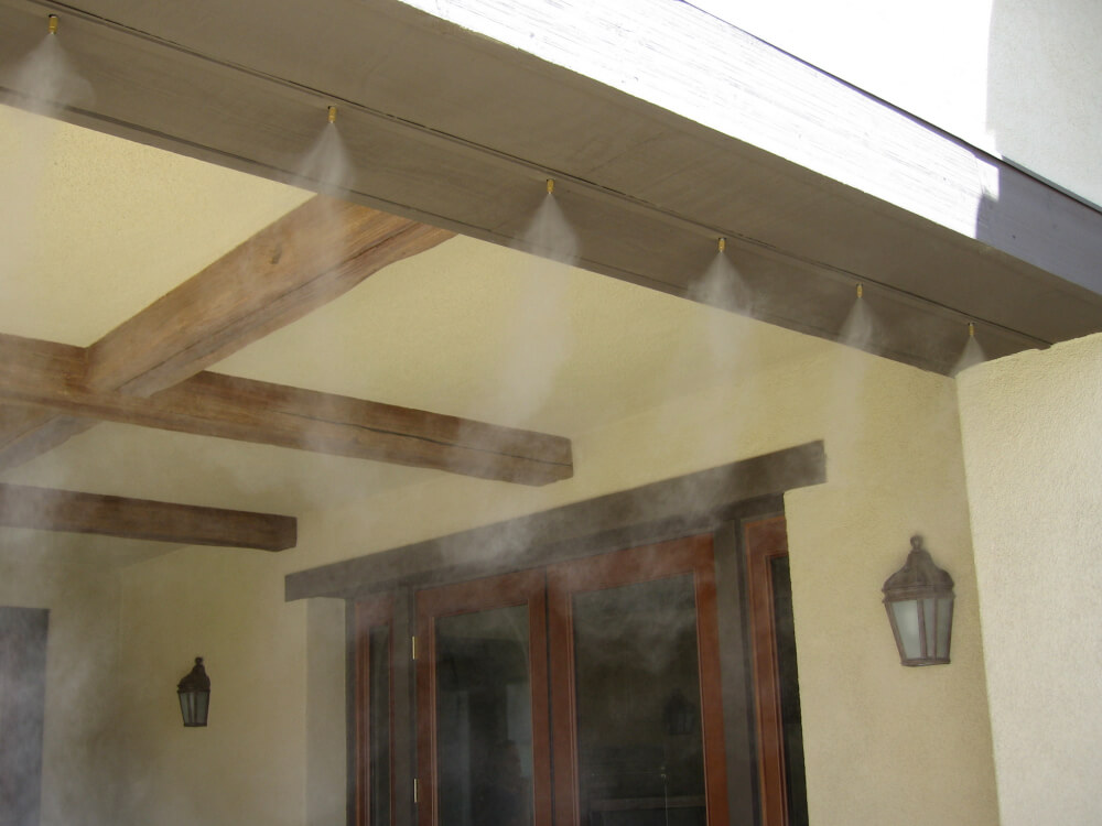 Built In Misters Within The Wood Of A Local Patio.