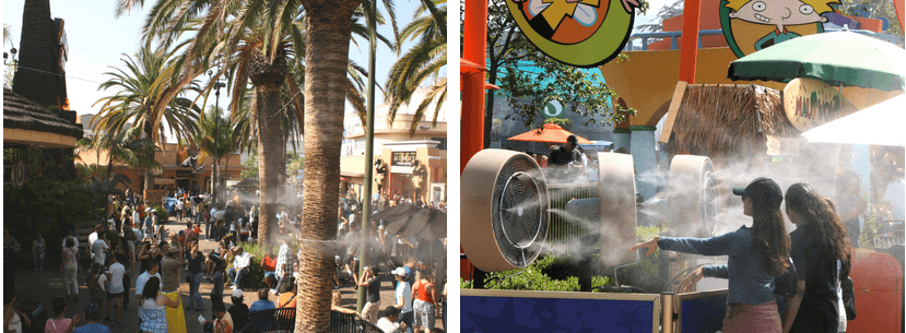 cooling solutions at theme parks