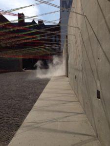 fog in art installation