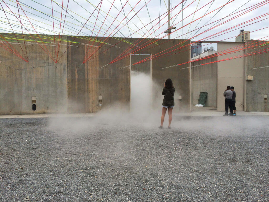 fog effects in art installation